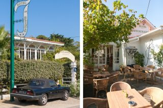 Exterior shots of quirky French hotel