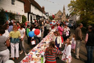 Street party in a Kent village
