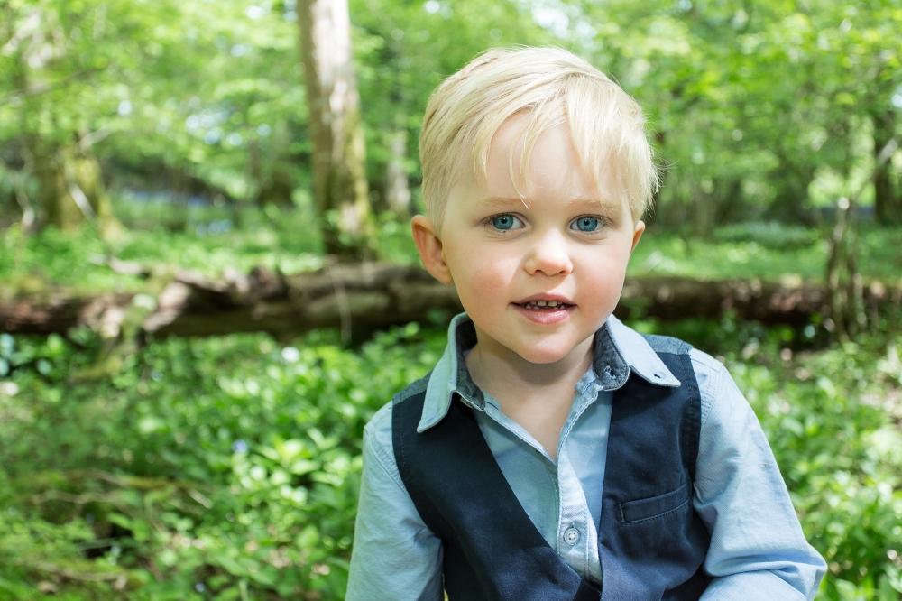 Happy four year old boy