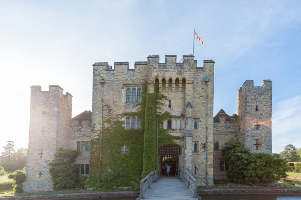 Medieval castle with drawbridge